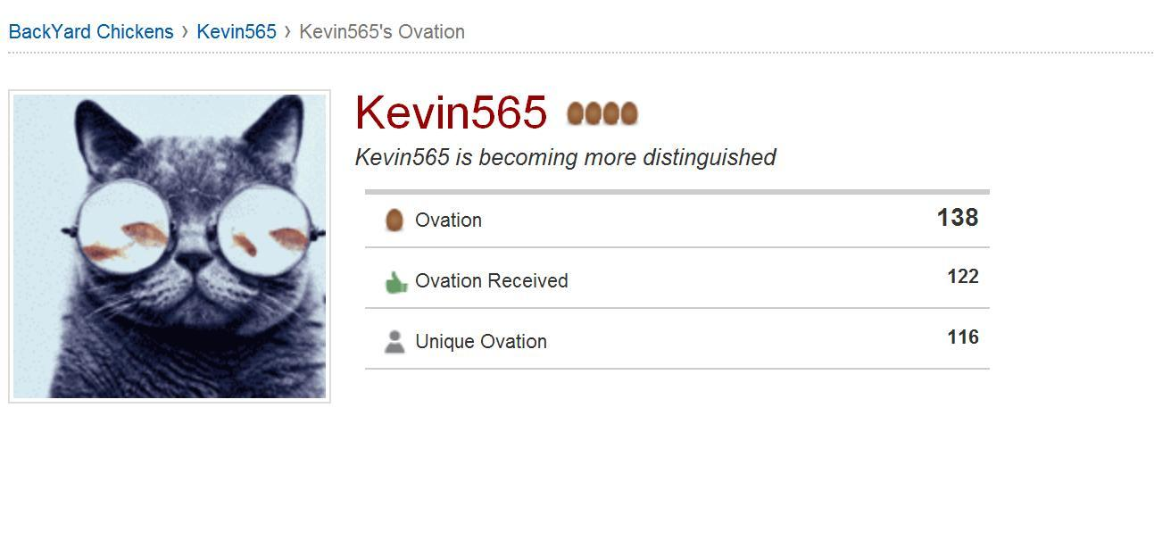 Kevin565's photos in So what does the Ovation thing mean??