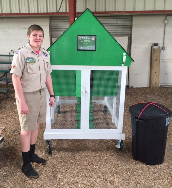 I built a model chicken coop for the 4H as my Eagle Scout Project.