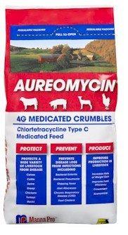 Aureomycin Medicated Crumbles 4 Gram - 5 lbs.
