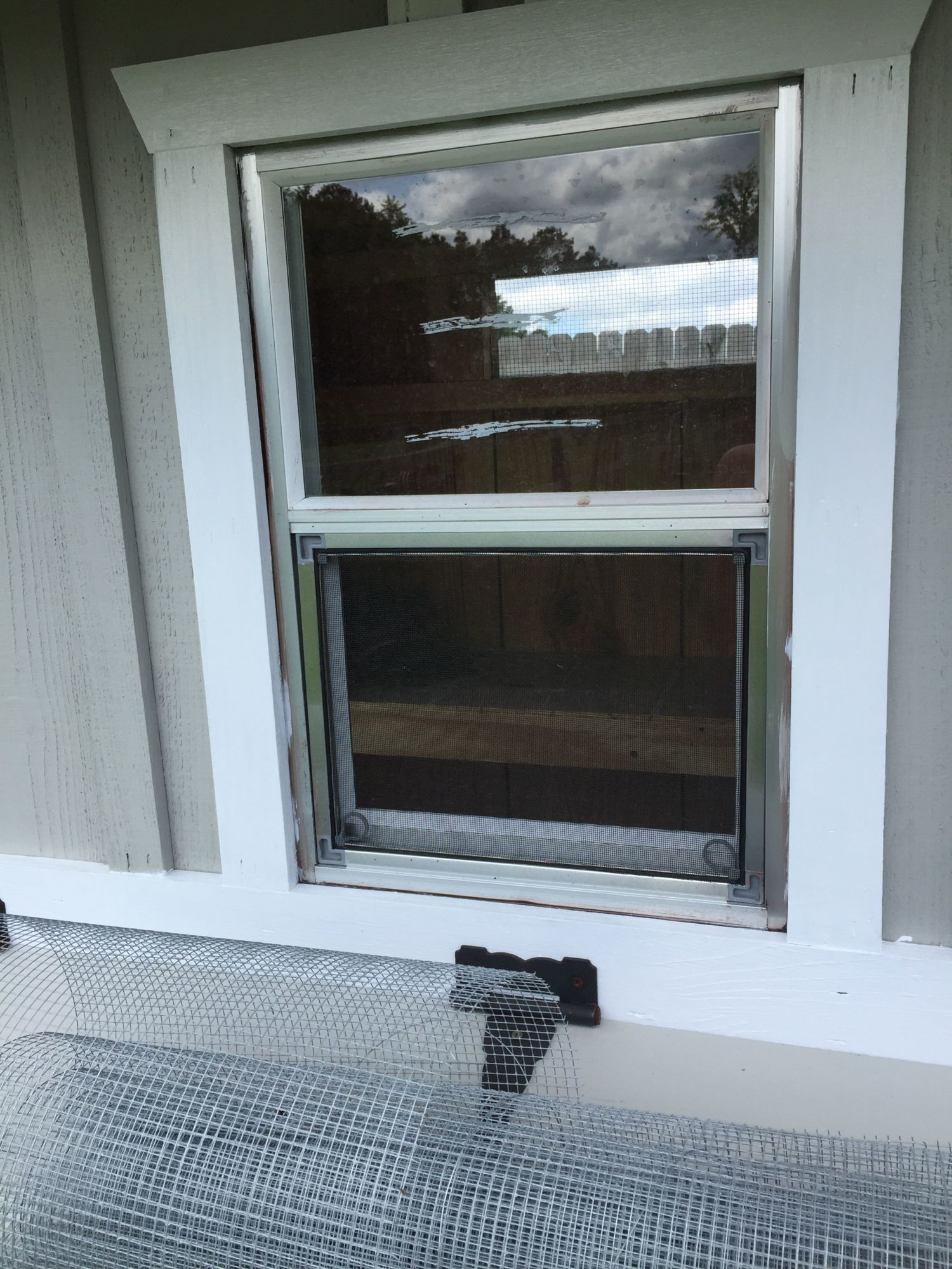 How would you hardware cloth this window?