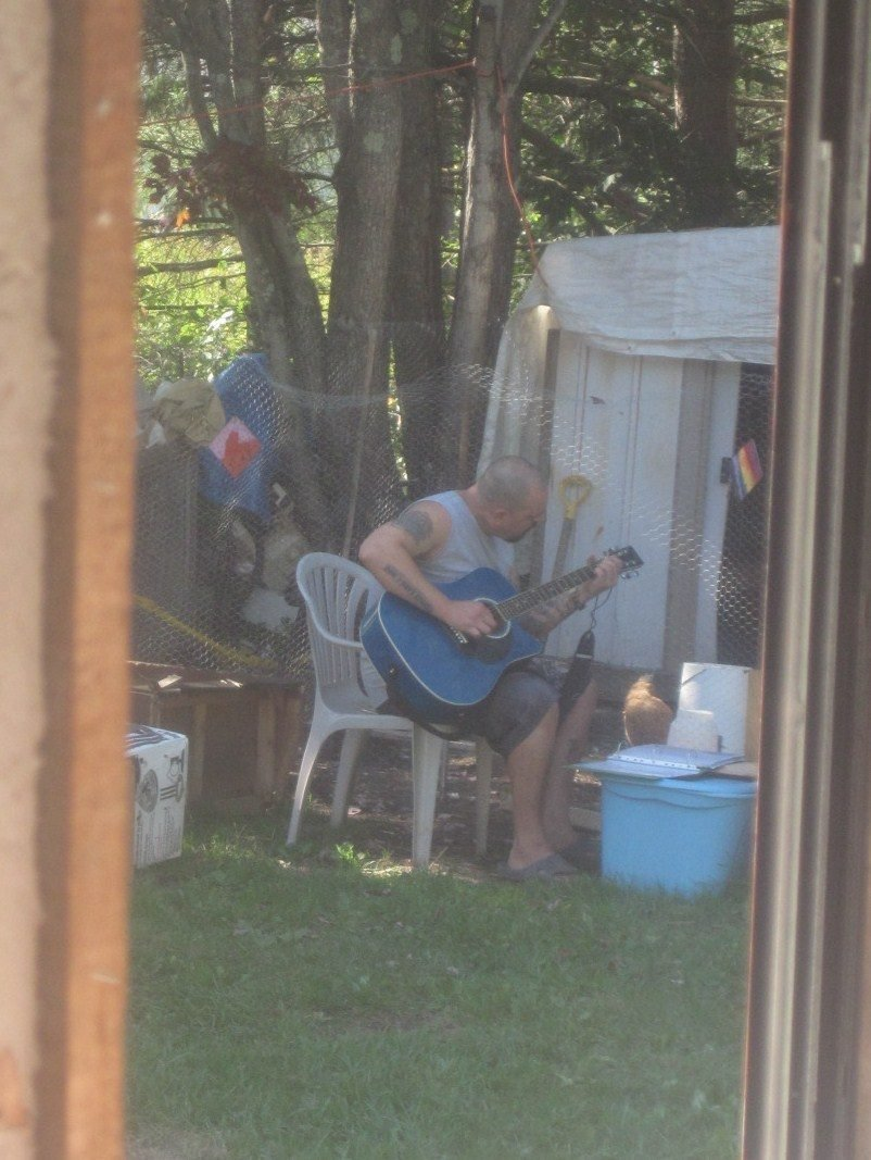 serenading our chickens