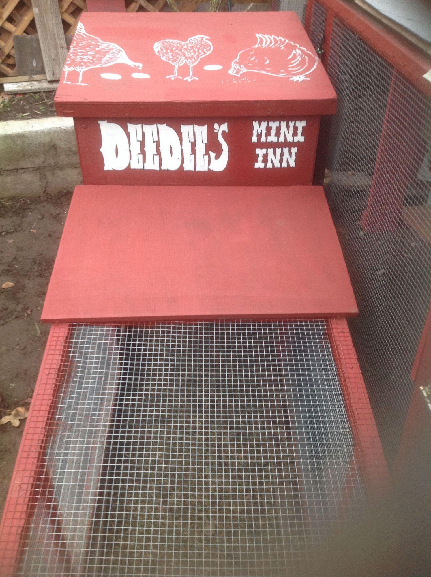 "Once I had built ""Deedee's Inn"", the original little tractor coop/run became the ""Mini Inn""."