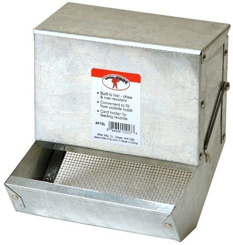 Little Giant7 inch Galvanized Rabbit Feeder  AF7SL