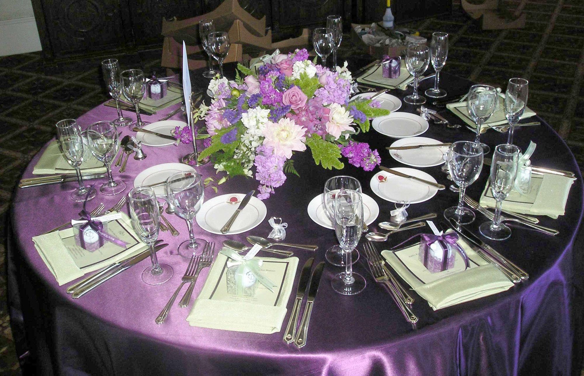 Сервировка свадебного стола своими руками фото