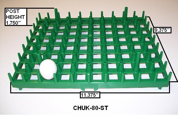 Plastic Partridge Egg Trays - Chuck-80-ST