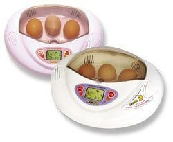 R-Com Mini Incubator with standard chicken egg tray and small egg tray