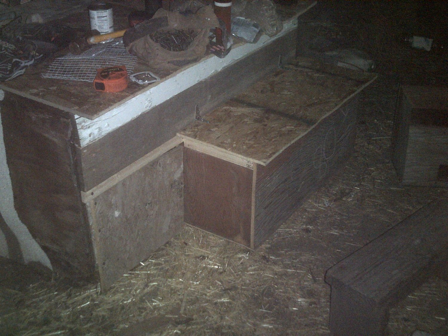 Nest box added to my anaconda duck coop finally...