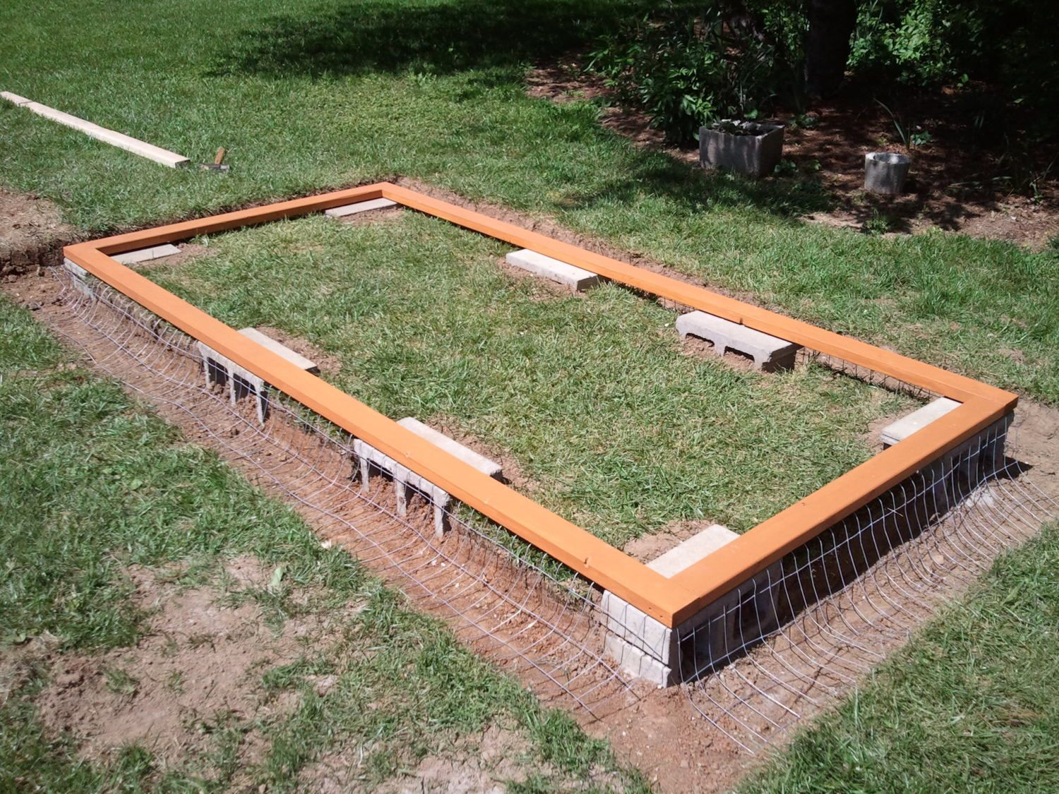 how to build a brick shed plans