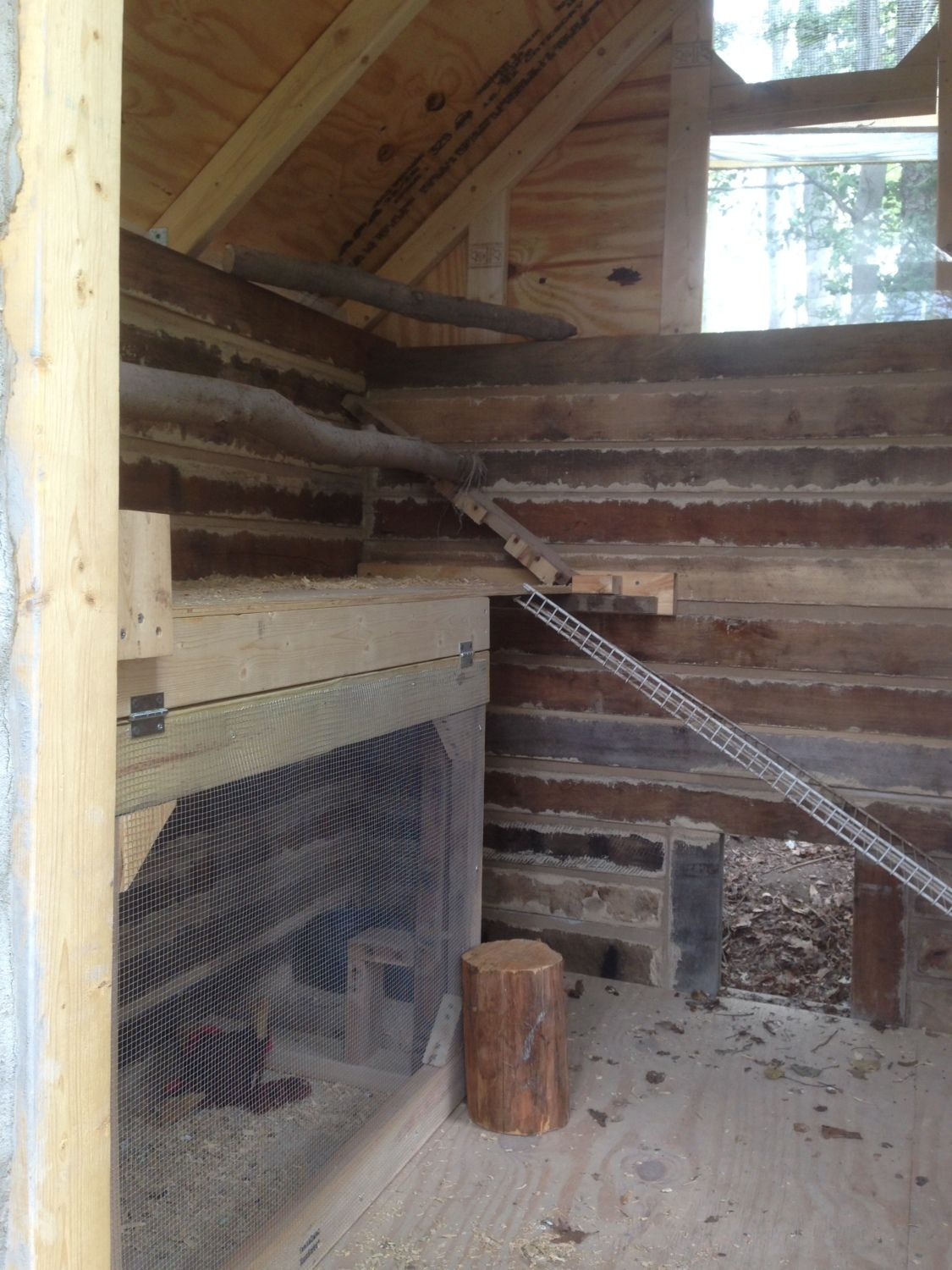 Log Cabin / Cordwood Coop