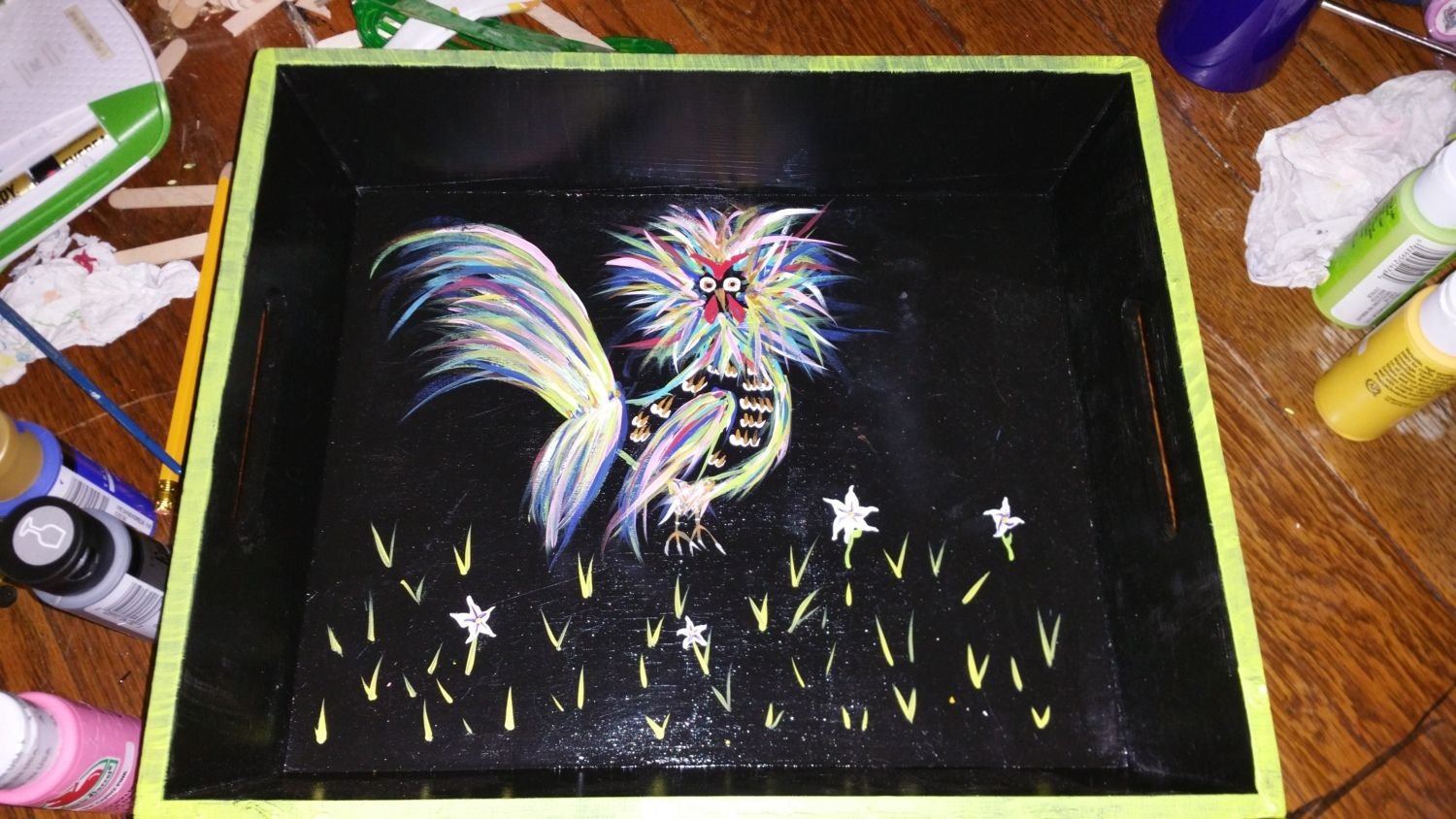 My funky chicken painting