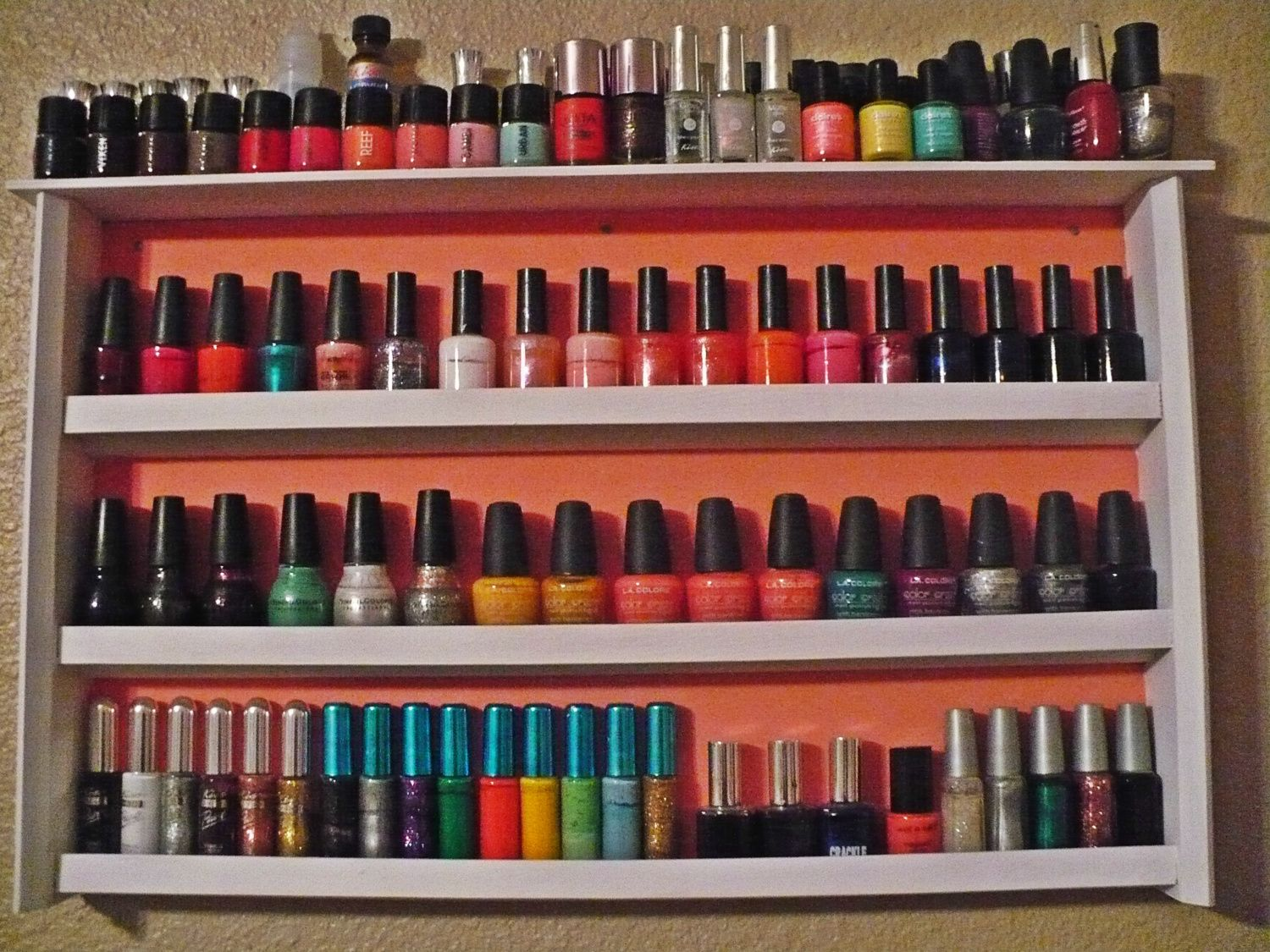 Chick1043's photos in FINALLY painted my nail polish rack (: