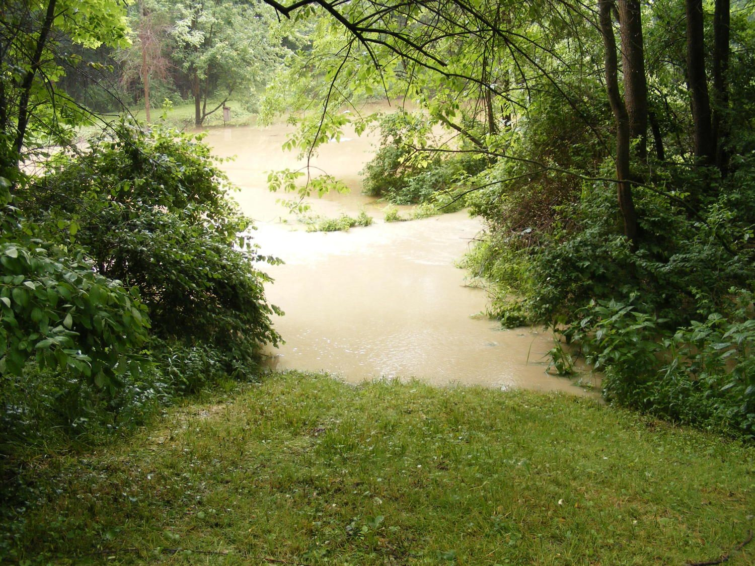 flooding on 6/15/15. looking down to Rugaber pond