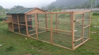 Huge space for the chickens to roam around, and it's nice and safe for them as well...