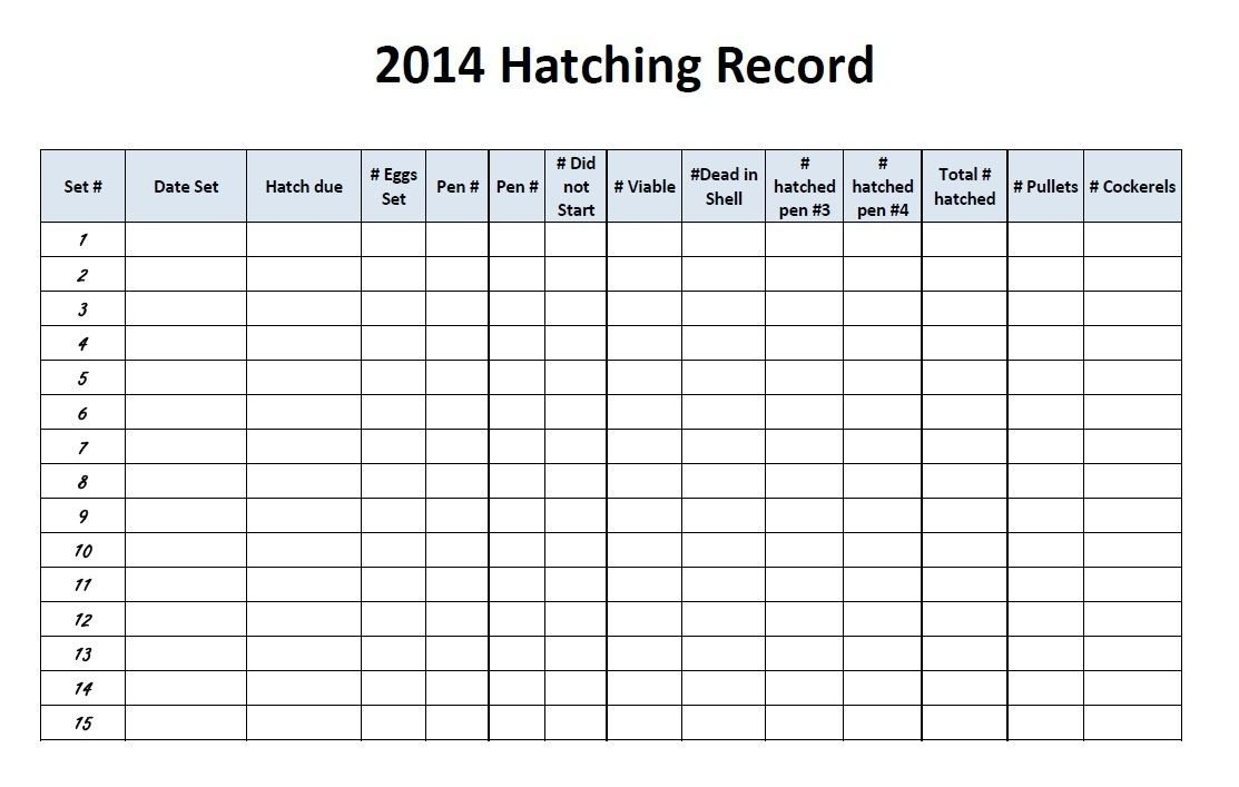 wsmith's photos in 2014 Hatch record sheet