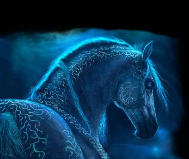 Blue Fire Horses   Photo#1