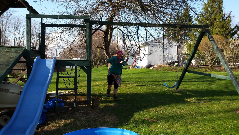 Repurposed an old playground set