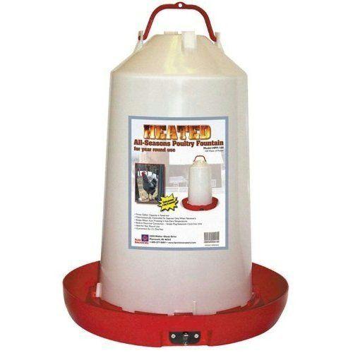 "Farm Innovators ""All-Seasons"" Heated Plastic Poultry Fountain - 3 Gal. Model HPF-100, 100-Watt"