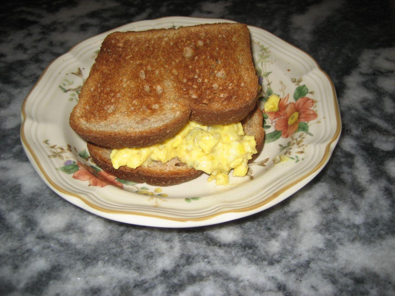 Scrambled Egg Salad - easier than boiling those fresh eggs.