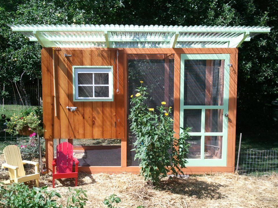 Cute Backyard Chicken Coops : Heres our coop! Started a few months ago and finished last weekend