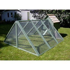 A Frame Run for Alexandria Chicken Coops Size-Color - 9 ft. - Green