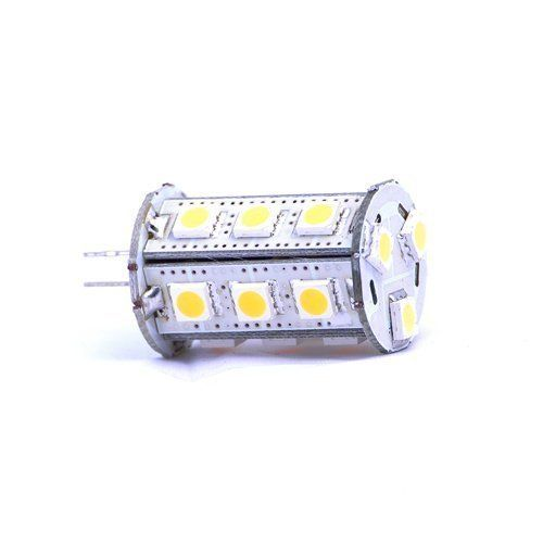 BrightChoice Tower Type G4 18 SMD LED 5050 12V Ac/Dc Warm White Color