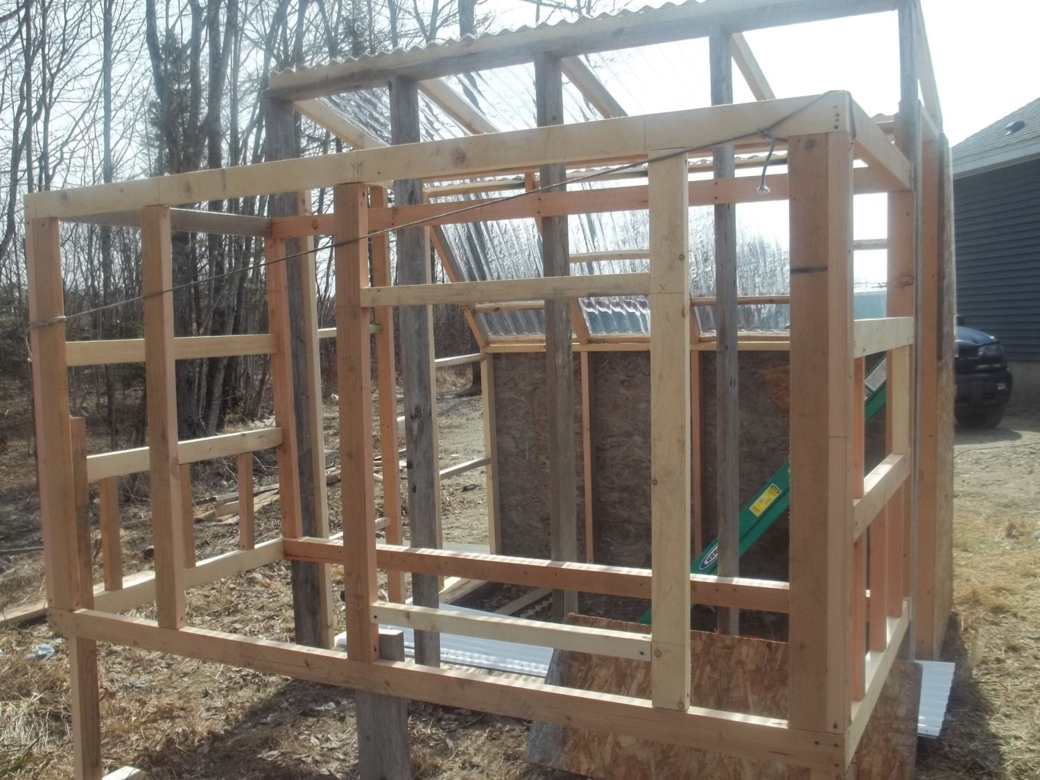 2'X2' door framed along with the back wall