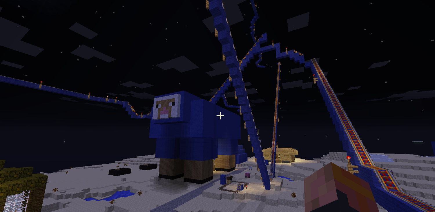Giant Sheepie Home and complex Rollercoasters