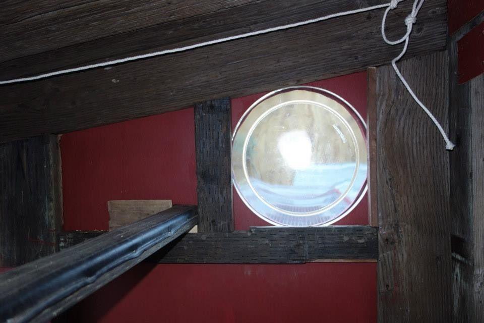 porthole window.